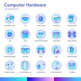 Insieme dell'icona del hardware Stile moderno di pendenza Vettore ENV 10 royalty illustrazione gratis
