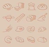 Insieme dell'icona del pane di vettore Immagini Stock Libere da Diritti
