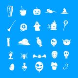 Insieme dell'icona del partito di Halloween, stile semplice royalty illustrazione gratis