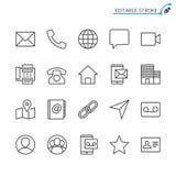 Insieme dell'icona del profilo del contatto illustrazione vettoriale