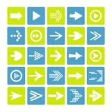 Insieme dell'icona del segno della freccia Immagini Stock