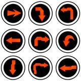 Insieme dell'icona del segno della freccia. Fotografie Stock Libere da Diritti
