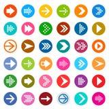 Insieme dell'icona del segno della freccia Immagine Stock Libera da Diritti