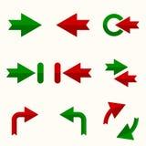Insieme dell'icona del segno di vettore della freccia Fotografia Stock