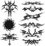 Insieme dell'icona del tatuaggio Fotografie Stock