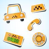 Insieme dell'icona del taxi Fotografia Stock