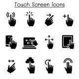 Insieme dell'icona del touch screen illustrazione vettoriale