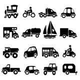 Insieme dell'icona del trasporto Fotografia Stock Libera da Diritti