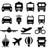 Insieme dell'icona del trasporto Fotografie Stock