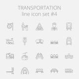 Insieme dell'icona del trasporto Immagini Stock Libere da Diritti