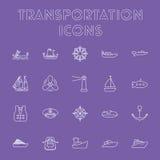 Insieme dell'icona del trasporto Immagine Stock