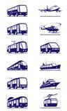 Insieme dell'icona del trasporto pubblico Immagini Stock