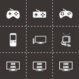Insieme dell'icona del video gioco di vettore Immagini Stock