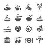 Insieme dell'icona dell'alimento, vettore eps10 Fotografia Stock Libera da Diritti