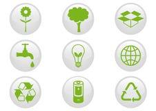 Insieme dell'icona dell'ambiente. Fotografie Stock