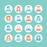 Insieme dell'icona dell'avatar, semplice Fotografia Stock