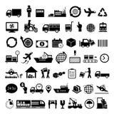 Insieme dell'icona dell'esportazione di logistica illustrazione di stock