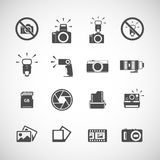 Insieme dell'icona dell'istantaneo e della macchina fotografica, vettore eps10 Fotografia Stock