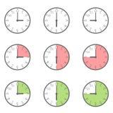 Insieme dell'icona dell'orologio royalty illustrazione gratis