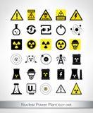 Insieme dell'icona della centrale atomica Immagine Stock Libera da Diritti