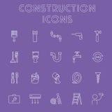 Insieme dell'icona della costruzione Fotografie Stock