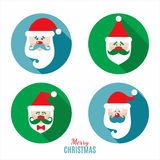 Insieme dell'icona della decorazione del Babbo Natale Immagini Stock Libere da Diritti