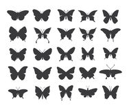 Insieme dell'icona della farfalla Immagine Stock Libera da Diritti