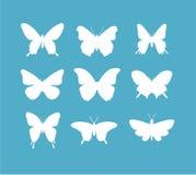 Insieme dell'icona della farfalla illustrazione di stock