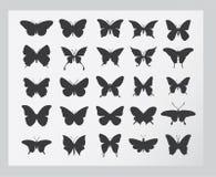Insieme dell'icona della farfalla illustrazione vettoriale