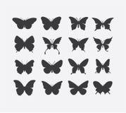 Insieme dell'icona della farfalla Immagine Stock