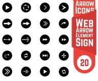 Insieme dell'icona della freccia Immagine Stock Libera da Diritti
