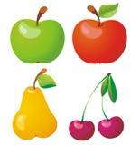 Insieme dell'icona della frutta. illustrazione di stock