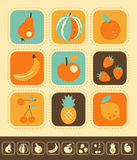 Insieme dell'icona della frutta illustrazione vettoriale