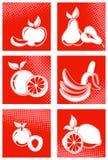 Insieme dell'icona della frutta Fotografia Stock Libera da Diritti