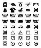 Insieme dell'icona della lavanderia Fotografia Stock