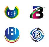 Insieme dell'icona della lettera B di vettore di logo di alfabeto della lettera B Fotografia Stock