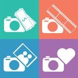 Insieme dell'icona della macchina fotografica Fotografia Stock Libera da Diritti