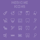 Insieme dell'icona della medicina Fotografie Stock Libere da Diritti