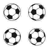 Insieme dell'icona della palla per calcio europeo Simbolo di calcio, segno Fotografia Stock