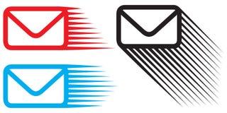 Insieme dell'icona della posta Immagini Stock Libere da Diritti