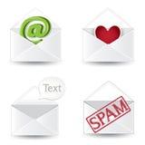 Insieme dell'icona della posta Immagine Stock