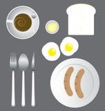 Insieme dell'icona della prima colazione Immagini Stock Libere da Diritti