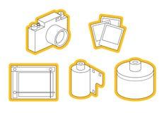 Insieme dell'icona della strumentazione della foto Fotografie Stock Libere da Diritti