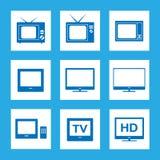 Insieme dell'icona della TV Fotografia Stock Libera da Diritti