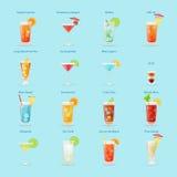 Insieme dell'icona delle bevande e dei cocktail dell'alcool royalty illustrazione gratis
