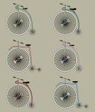 Insieme dell'icona delle bici dell'annata Immagine Stock Libera da Diritti
