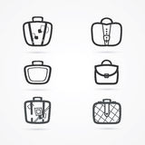 Insieme dell'icona delle borse Immagini Stock Libere da Diritti
