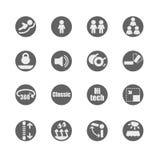 Insieme dell'icona delle caratteristiche dei mobili e accessori Immagini Stock Libere da Diritti
