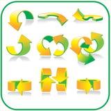 Insieme dell'icona delle frecce Immagine Stock