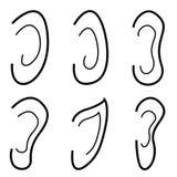 Insieme dell'icona delle orecchie Immagini Stock Libere da Diritti